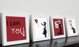 Banksy Mini Canvas Prints Sets