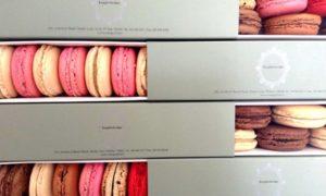 Box of macaroons or London cake