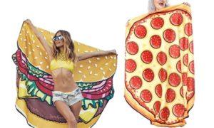Burger or Pizza-Shaped Blanket