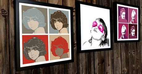 Customised Pop Art Canvas Print