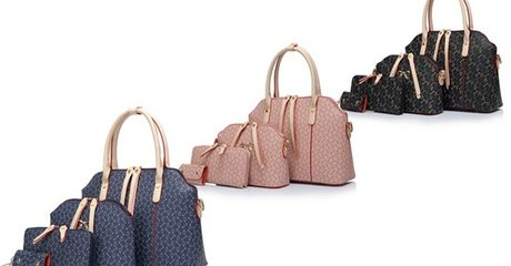 Four-Piece Bow Bag Set