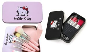 Hello Kitty Makeup Brushes Set