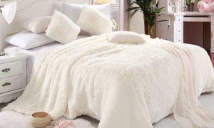 Laux Fur Six-Piece Comforter Set