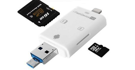 Lightning and MicroUSB Card Readers