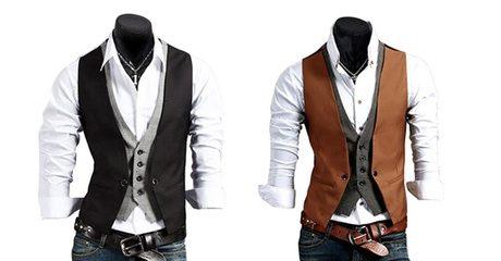Men's Double Layer Waistcoat