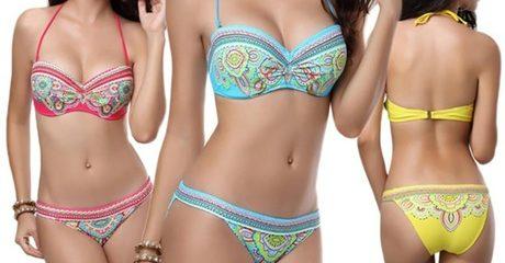 Paisley Push-up Bikini