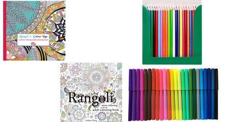 Rangoli Adult Colouring Book