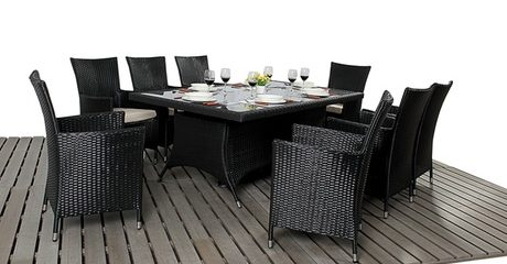 Rattan-Effect 8-Seater Set