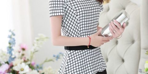 Squares Office Dress