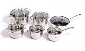 Stainless Steel Pot 12-Piece Set