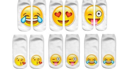 Three-Pack Emoji Socks