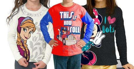 Two-Pack Kid's Licensed Character T-shirts