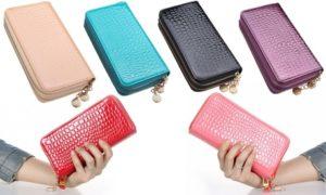 Women's Double Zipper Wallet