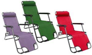Folding Reclining Deckchair