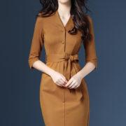 Trendy Golden Dress