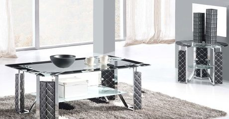 High-End 2+1 Glass Coffee Tables