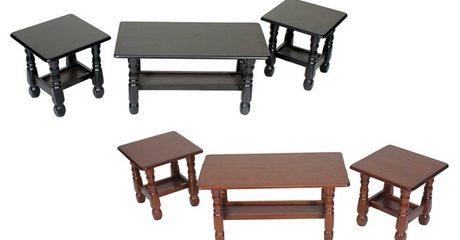 Monarch Three-Piece Table Set