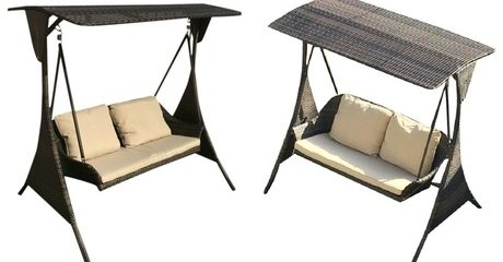 Two-Seater Outdoor Wicker Swing