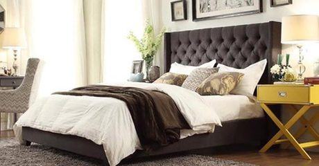 Skyline Upholstered Tufted Bed