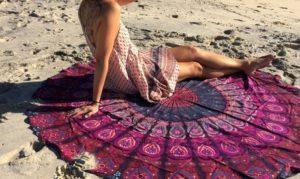 Round Chiffon Beach Throws