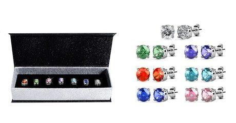 7 Swarovski Crystal Earrings