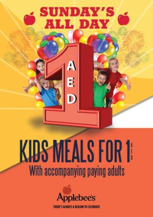 Applebee's SUnday All Kids Day Special