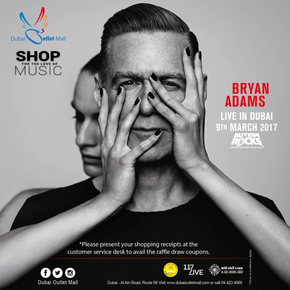 Get a chance to win 2 VIP tickets on Bryan Adams Concert