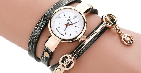 Faux Leather Wrap Watches