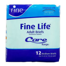 Fine Life Adult Briefs Medium - 12 diapers