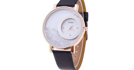 Floating Crystal Filled Watch