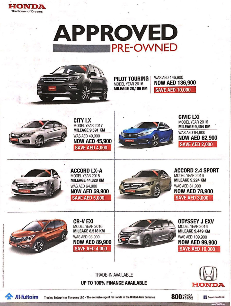 Honda Approved Pre Owned Cars