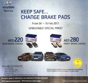 Hyundai Unbeatable Change Brake Pads Offer