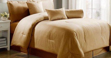 Luxury Self-Striped 4-PC Bedding Set