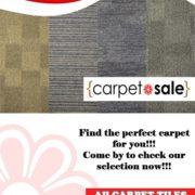 Marlin Furniture All Carpet Tiles Sale Promotion