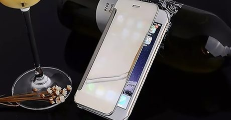 Metal Flip-Shell Mirror Case