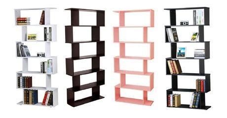 Six-Shelf S-Shaped Bookshelf