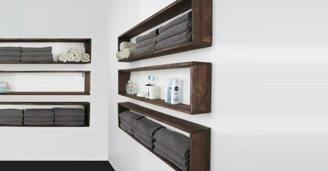 Solid Wood Floating Bookshelves