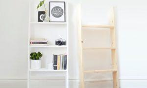 Three-Tier Ladder Storage Shelf