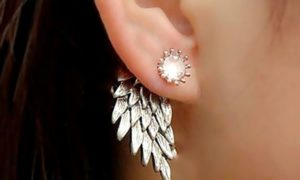 Two Pairs of Angel Wing Earrings