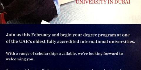 University Of Wollongong Dubai Scholarship offer