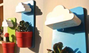 Wall-Hung Cloud-Shaped Flowerpots