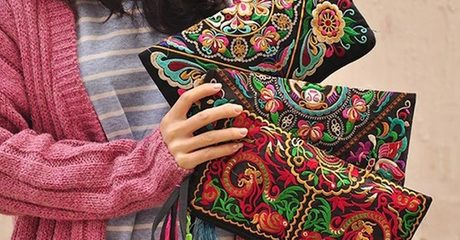 Women's Embroidered Clutches