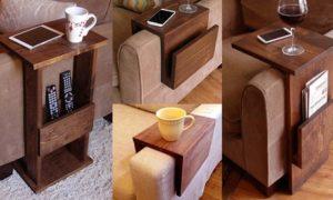 Wooden Sofa Arm Trays