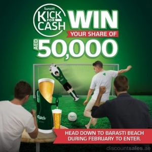 Join Barasti Kick for Cash Challenge