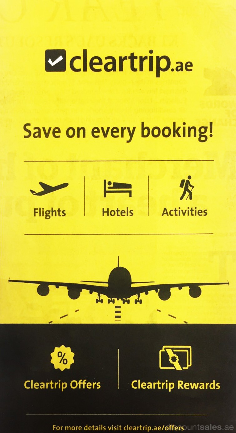 Save on Every booking @ Cleartrip.ae
