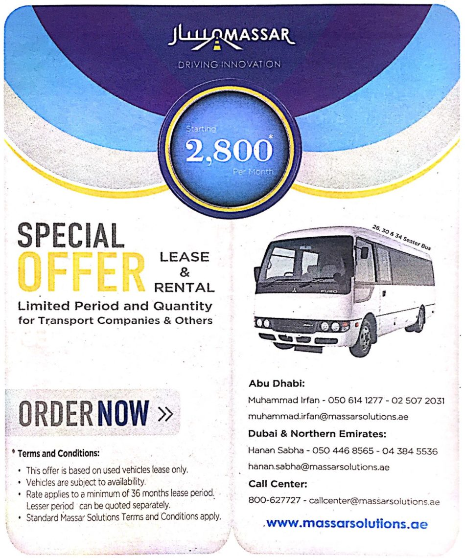 Discount Rental Cars: Massar Solutions Special Offer On Lease & Rental