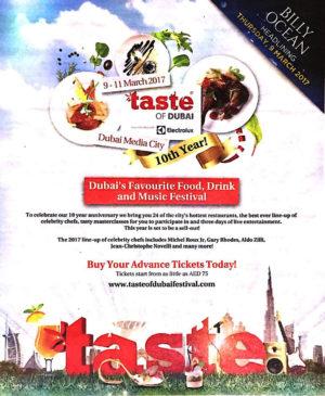 Be part of Taste of Dubai 2017