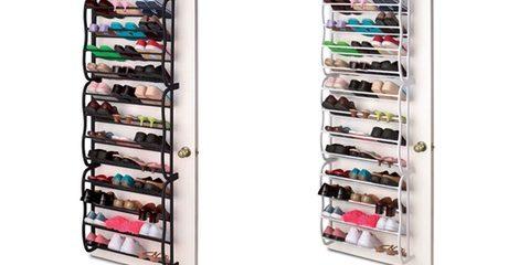 36-Pair Over-The-Door Shoe Rack