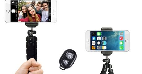Flexible Selfie Tripod Mount and Remote