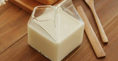 Half Pint Milk Box-Shaped Glass
